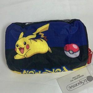 NWT Lesportsac Limited Ed Pokémon Cosmetic Bag